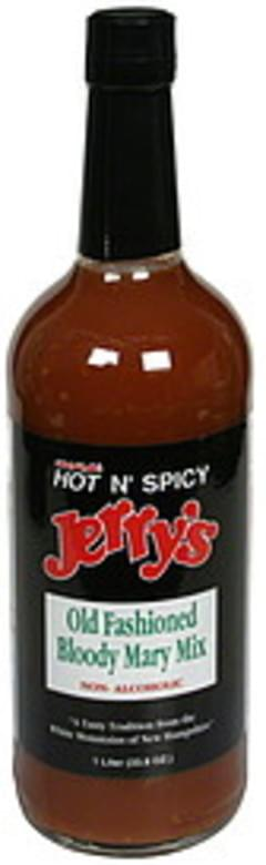 Jerrys Old Fashioned Bloody Mary Mix Non-Alcoholic, Hot N' Spicy