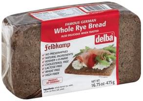 Delba Bread Whole Rye