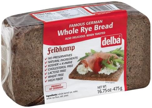 Delba Whole Rye Bread - 16.75 oz