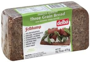 Delba Bread Three Grain Bread