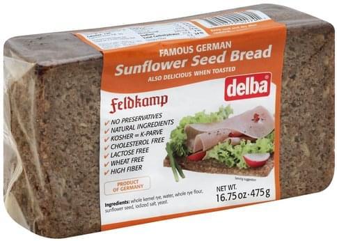 Delba Sunflower Seed Bread - 16.75 oz