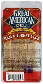Great American Club Sandwich Ham & Turkey