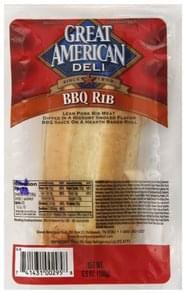 Great American Sandwich BBQ Rib