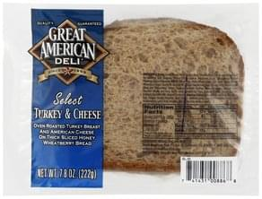 Great American Sandwich Turkey & Cheese, Select