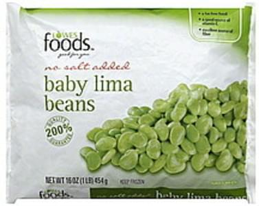 Lowes Foods Lima Beans Baby, No Salt Added