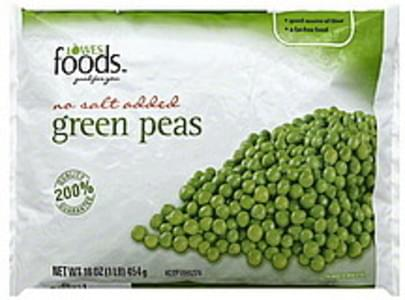 Lowes Foods Green Peas No Salt Added