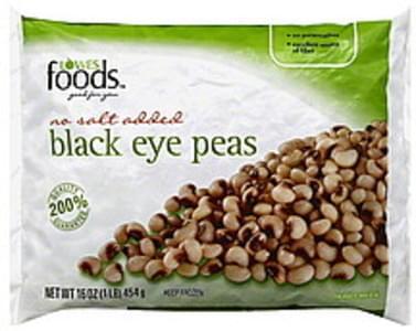 Lowes Foods Black Eye Peas No salt added.