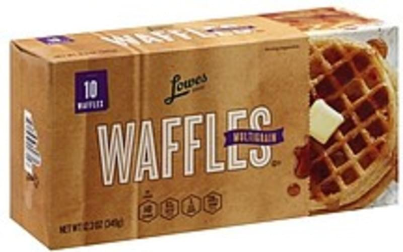 Lowes Foods Multigrain Waffles - 10 ea