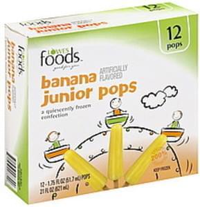 Lowes Foods Frozen Confection Banana Junior Pops