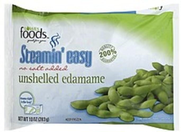 Lowes Foods No Salt Added, Unshelled Edamame - 10 oz