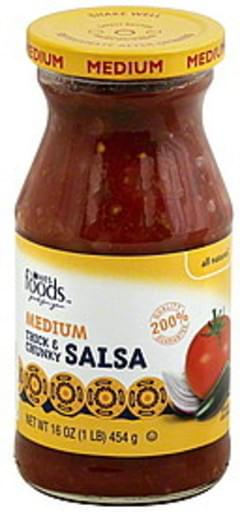 Lowes Foods Salsa Thick & Chunky, Medium