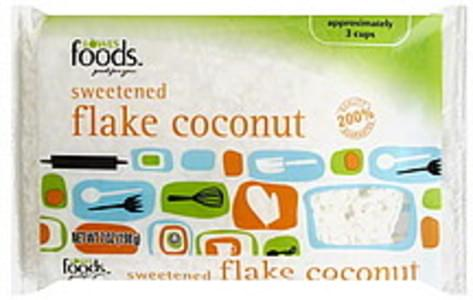 Lowes Foods Coconut Flake, Sweetened