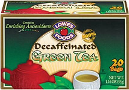 Lowes Foods Tea Bags Green Tea Decaffeinated