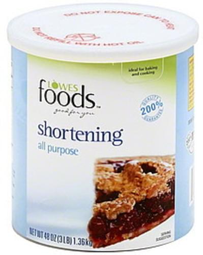 Lowes Foods All Purpose Shortening - 48 oz
