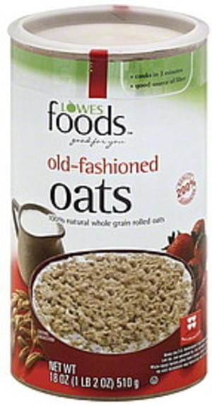 Lowes Foods Old-Fashioned Oats - 18 oz