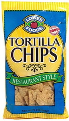 Lowes Foods Tortilla Chips, Restaurant Style