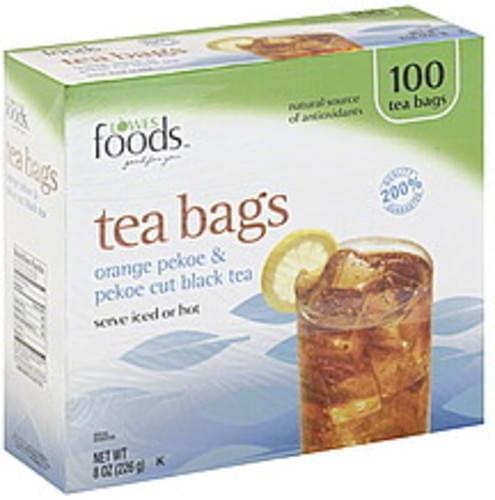 Lowes Foods Orange Pekoe & Pekoe Cut, Bags Black Tea - 100 ea