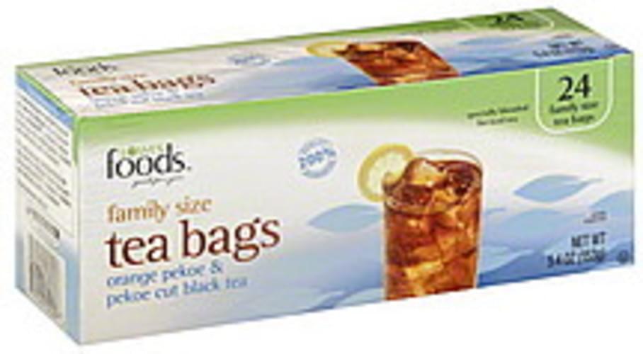 Lowes Foods Orange Pekoe & Pekoe Cut, Tea Bags, Family Size Black Tea - 24 ea