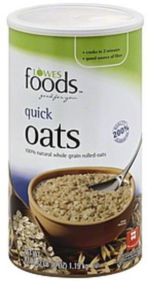 Lowes Foods Quick Oats - 42 oz