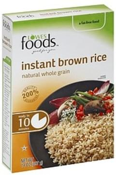 Lowes Foods Brown Rice Instant, Natural Whole Grain