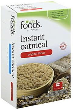 Lowes Foods Oatmeal Instant, Original Flavor
