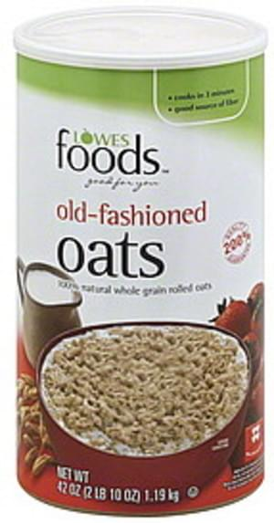 Lowes Foods Old-Fashioned Oats - 42 oz