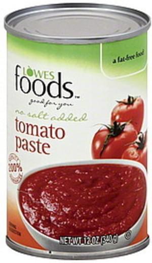 Lowes Foods No Salt Added Tomato Paste - 12 oz