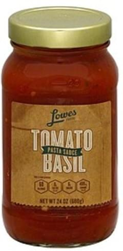 Lowes Foods Pasta Sauce Tomato Basil