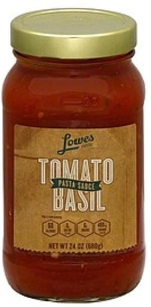 Lowes Foods Tomato Basil Pasta Sauce - 24 oz