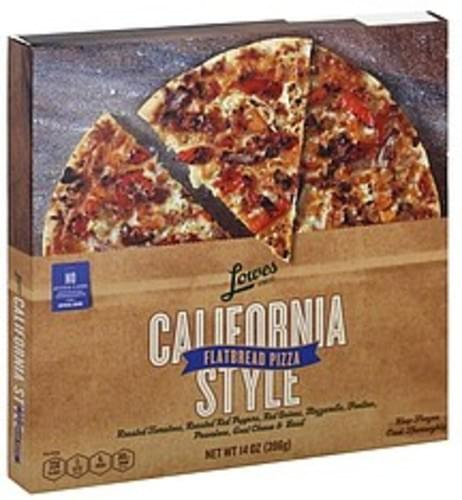 Lowes Foods Flatbread, California Style Pizza - 14 oz