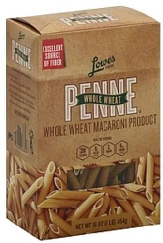 Lowes Foods Whole Wheat Penne - 16 oz