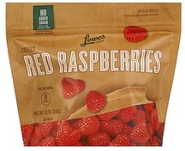 Lowes Foods Frozen, Red Raspberries - 12 oz