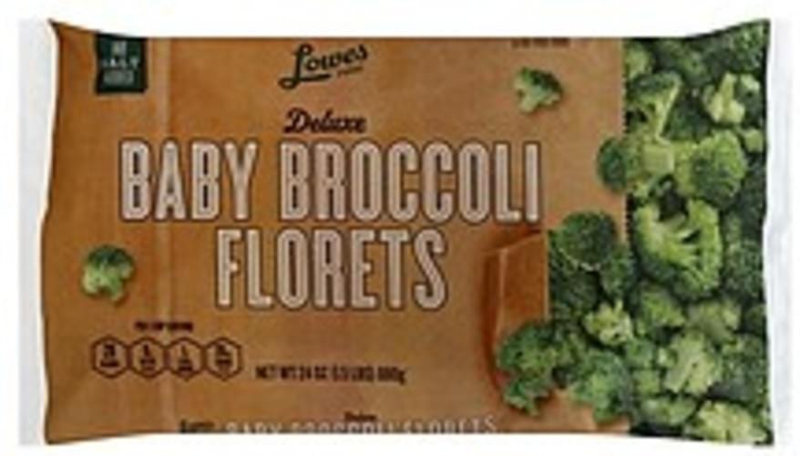Lowes Foods Baby Broccoli Florets, Deluxe Broccoli - 24 oz