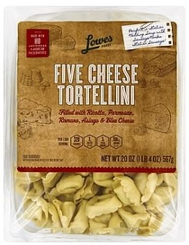 Lowes Foods Five Cheese Tortellini - 20 oz, Nutrition Information