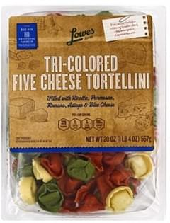 Lowes Foods Tortellini Five Cheese, Tri-Colored
