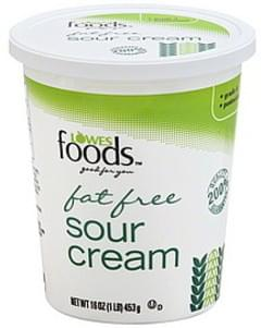 Lowes Foods Sour Cream Fat Free