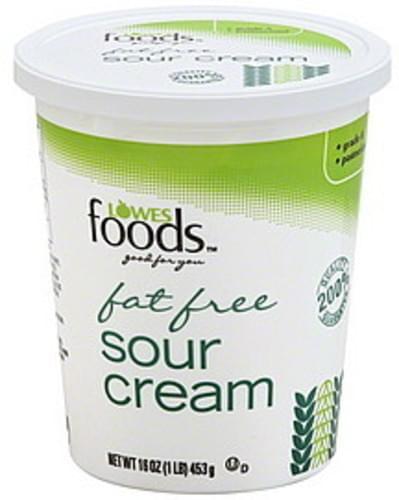 Lowes Foods Fat Free Sour Cream - 16 oz