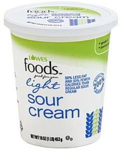 Lowes Foods Sour Cream Light