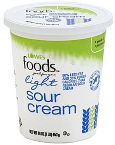 Lowes Foods Light Sour Cream - 16 oz