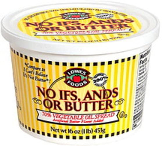 Lowes Foods Vegetable Oil Spread, Butter Flavored - 16 oz