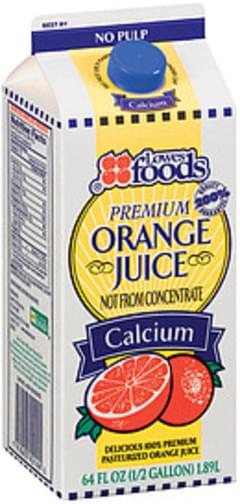 Lowes Foods Orange Juice Premium W/Calcium No Pulp