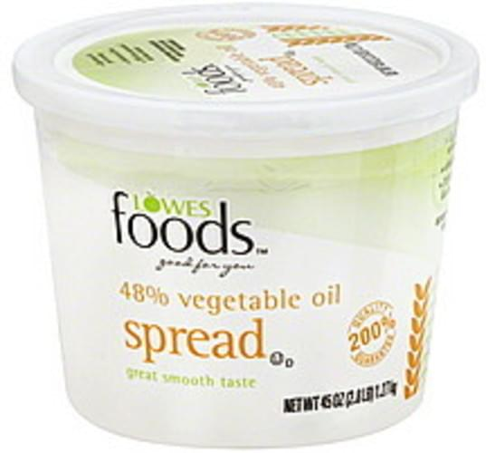 Lowes Foods 48% Vegetable Oil Spread - 45 oz