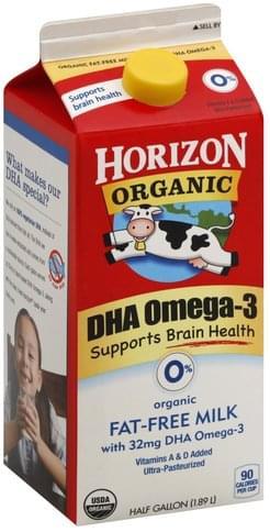 Horizon Organic, Fat Free, DHA Omega-3