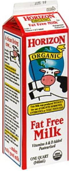 Horizon Fat Free Milk