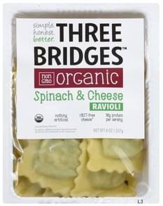 Three Bridges Ravioli Organic, Spinach & Cheese