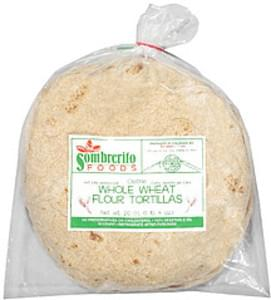 Sombrerito Tortillas 10 Whole Wheat Flour
