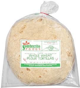 Sombrerito Tortillas 10 Whole Wheat Flour