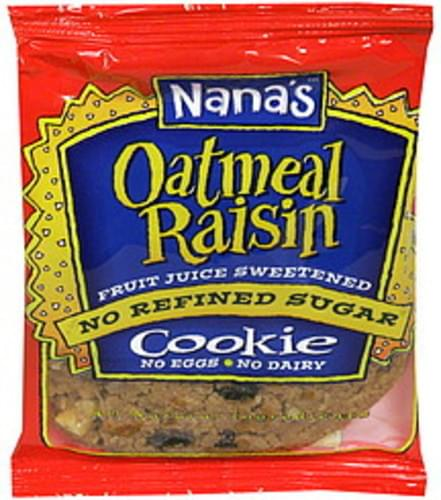 Nanas Oatmeal Raisin Cookie - 3.5 oz