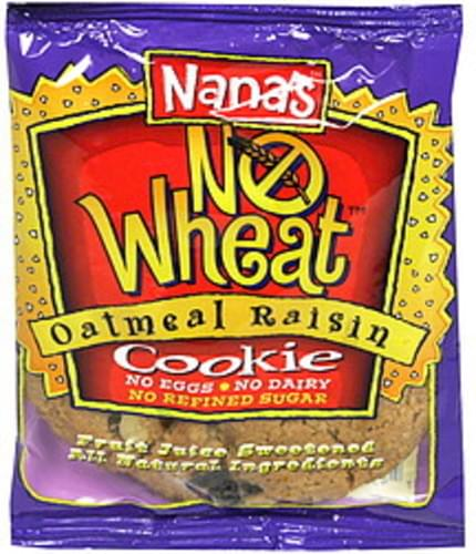 Nanas No Wheat, Oatmeal Raisin Cookie - 3.5 oz