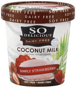 So Delicious Frozen Dessert Non-Dairy, Coconut Milk, Simply Strawberry